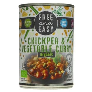Free & Easy Chick Pea/Vegetable Curry - Og - 400g